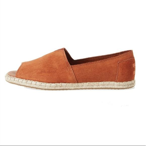 Toms Shoes | Toms Cognac Open Toe Suede